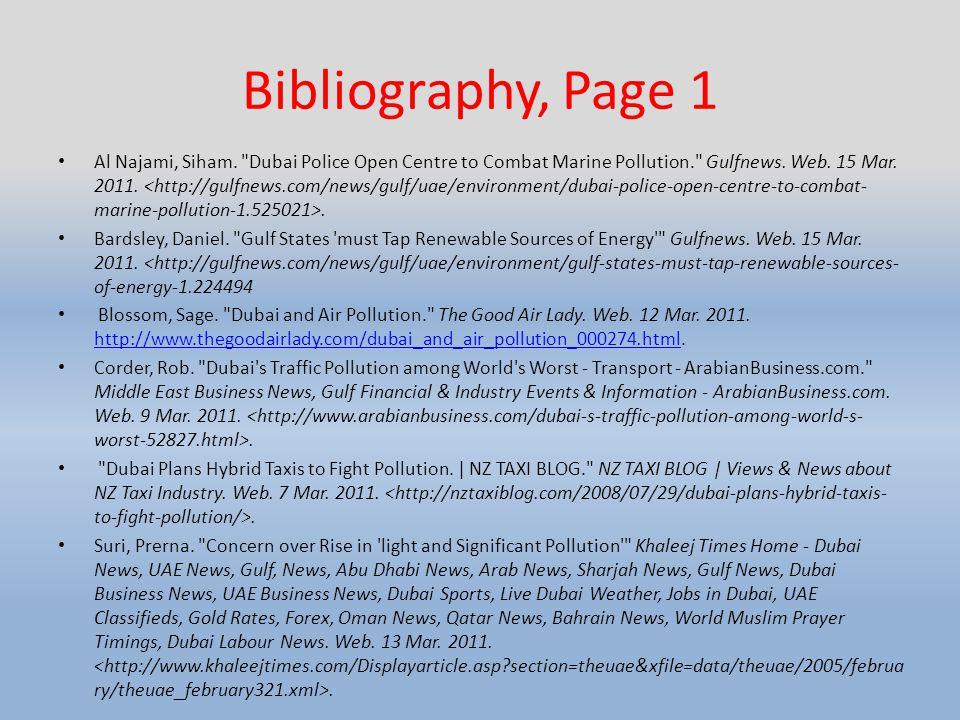 Bibliography, Page 1 Al Najami, Siham.
