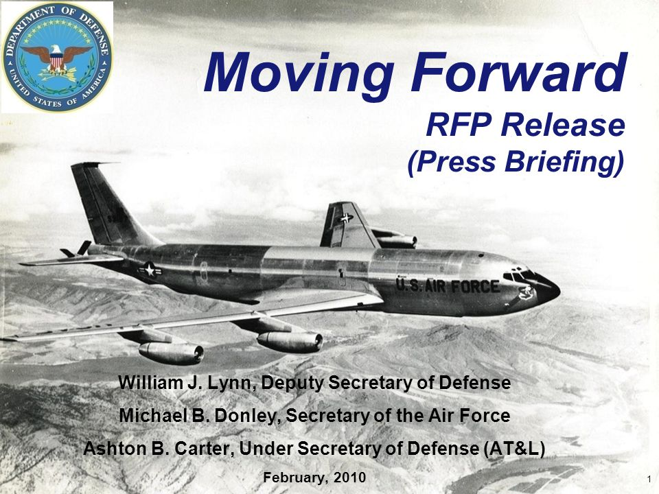 Moving Forward RFP Release (Press Briefing) William J.
