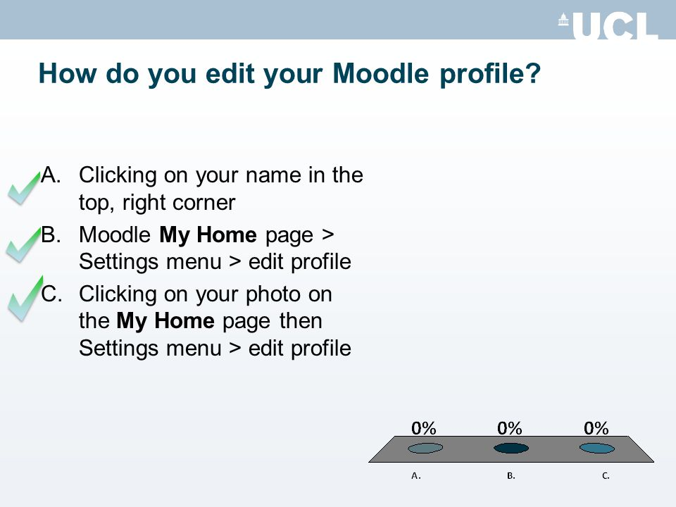 How do you edit your Moodle profile.