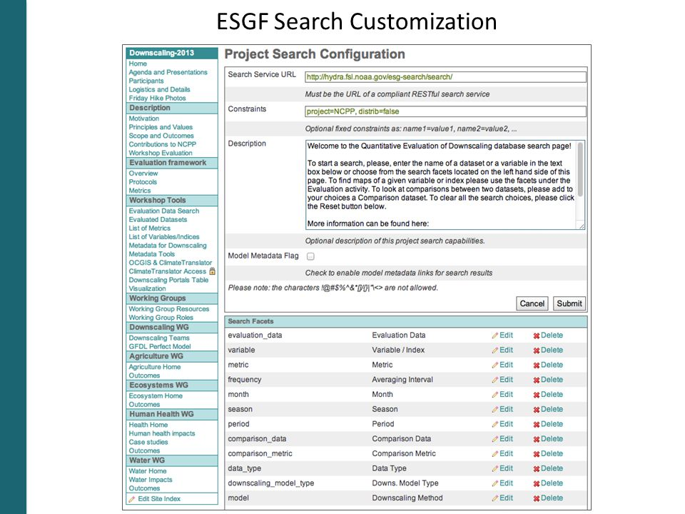 ESGF Search Customization