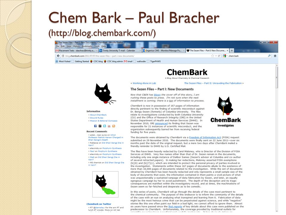Chem Bark – Paul Bracher (http://blog.chembark.com/)