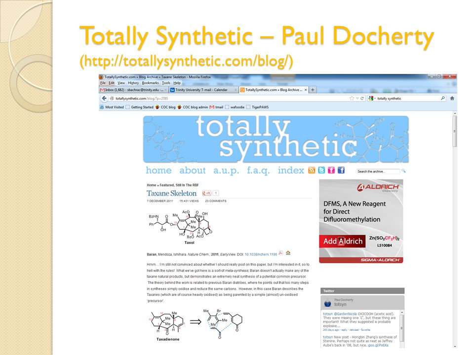 Totally Synthetic – Paul Docherty (http://totallysynthetic.com/blog/)