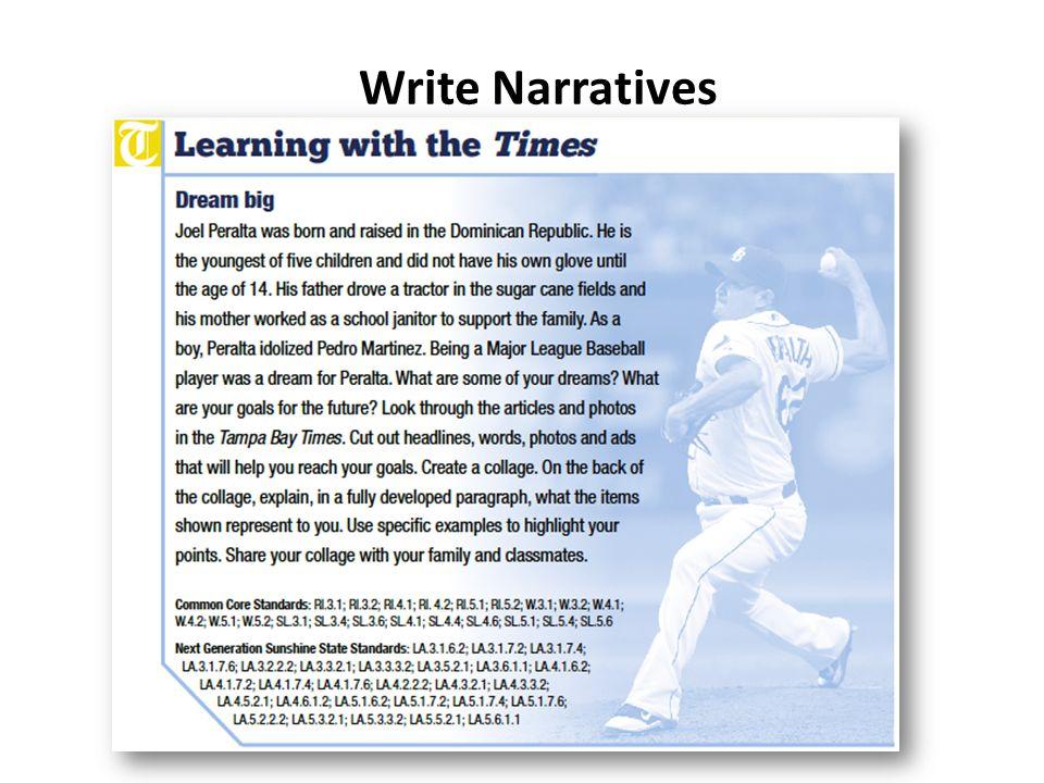 Write Narratives