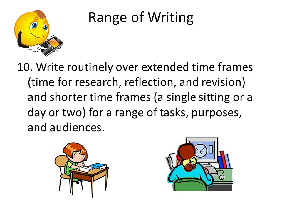Range of Writing 10.