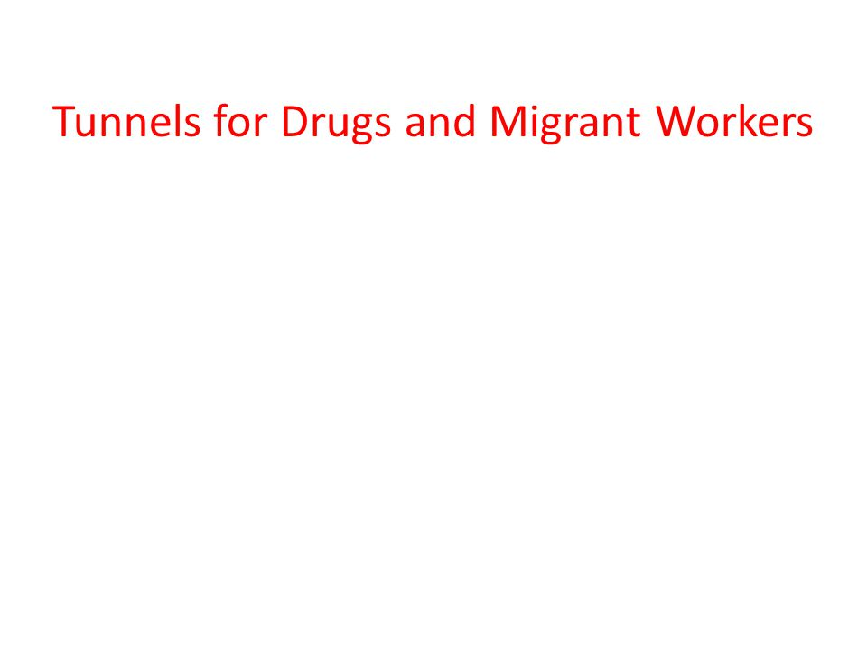 Tunnels for Drugs and Migrant Workers