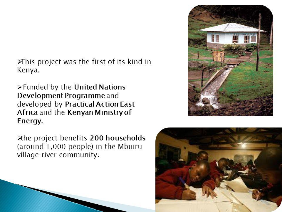 This project was the first of its kind in Kenya. Funded by the United Nations Development Programme and developed by Practical Action East Africa and