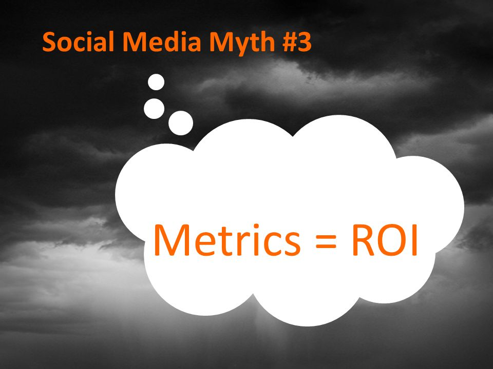 Social Media Myth #3 Metrics = ROI