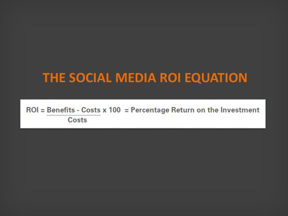 THE SOCIAL MEDIA ROI EQUATION