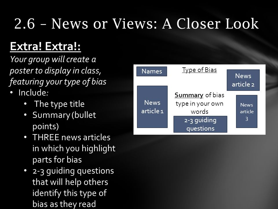 2.6 – News or Views: A Closer Look Extra.