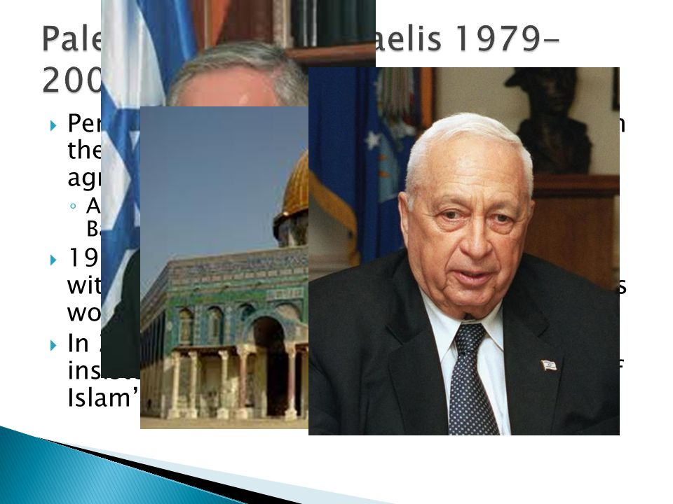 Peres was defeated by Benjamin Netanyahu in the next election, he condemned the Oslo agreements Allowed Israeli settlers to occupy land in the West Ba