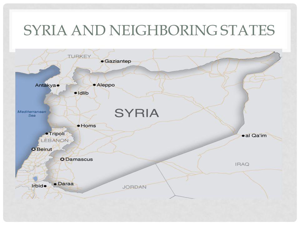 SYRIA AND NEIGHBORING STATES