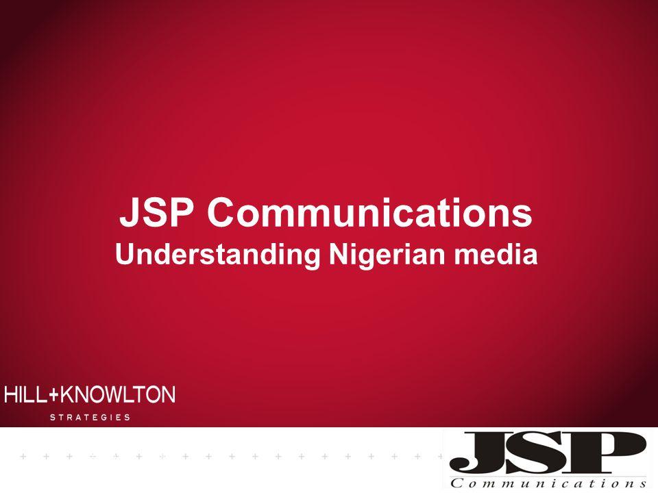 JSP Communications Understanding Nigerian media