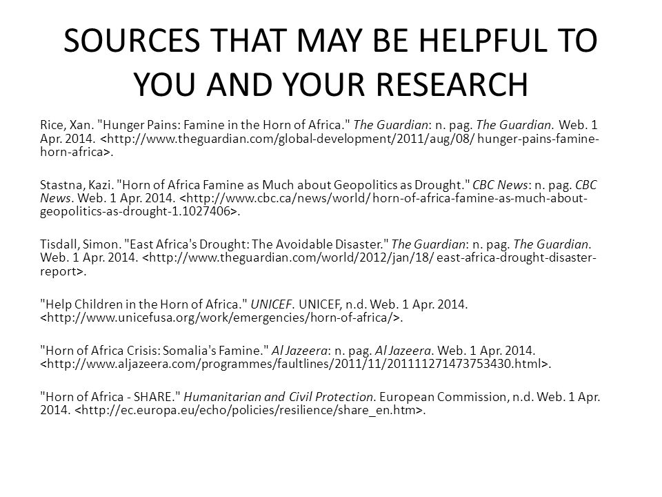 SOURCES THAT MAY BE HELPFUL TO YOU AND YOUR RESEARCH Rice, Xan.