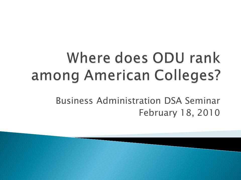 Business Administration DSA Seminar February 18, 2010