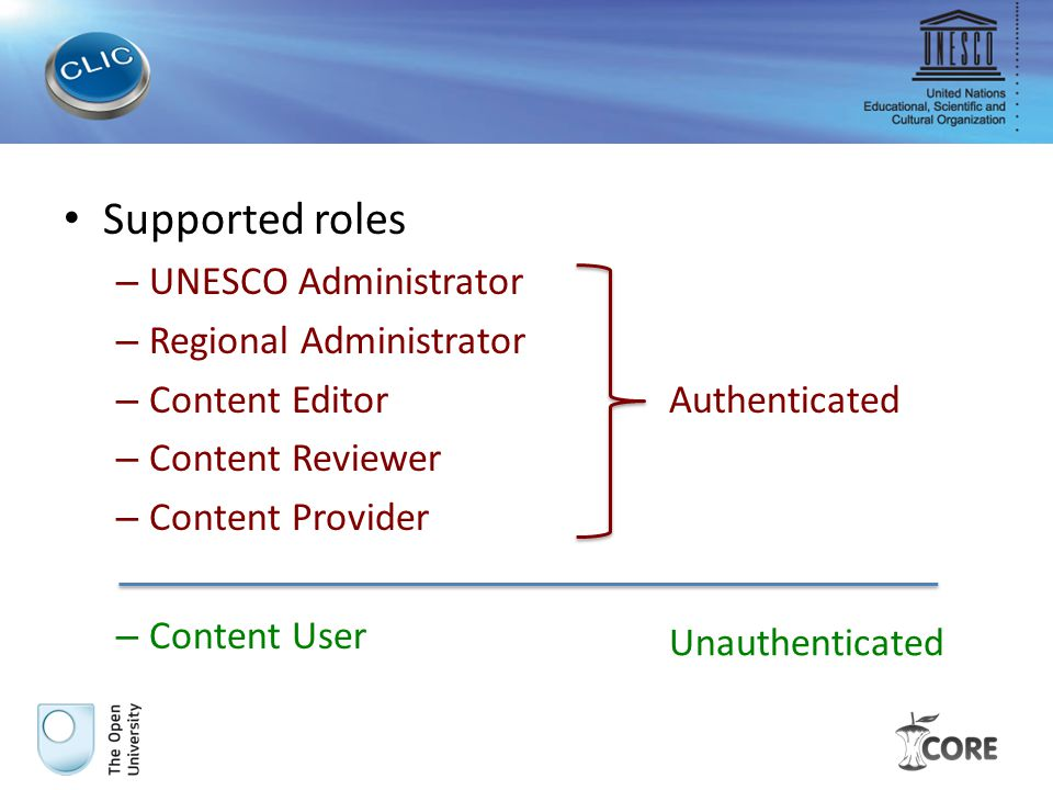 Explanation of potentially ambiguous terms: – UNESCO Administrator is a person responsible for managing the event (not necessarily UNESCO staff).