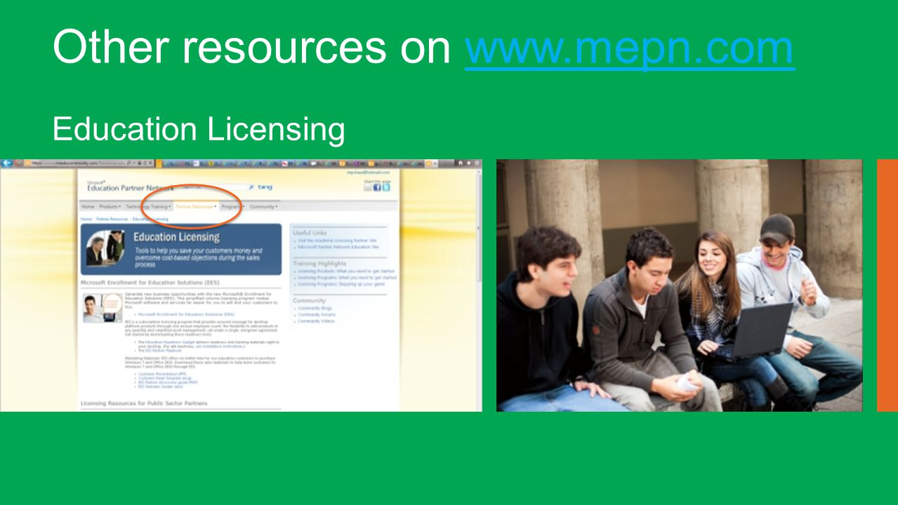 Other resources on www.mepn.comwww.mepn.com Education Licensing