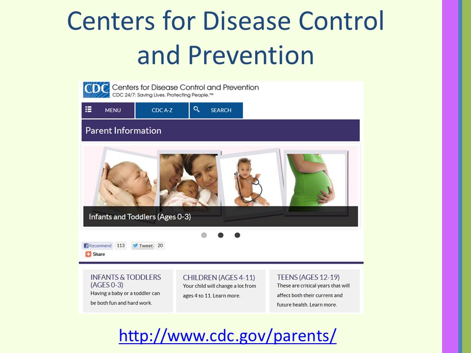 Centers for Disease Control and Prevention http://www.cdc.gov/parents/