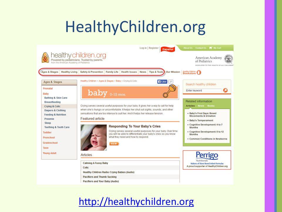 HealthyChildren.org http://healthychildren.org
