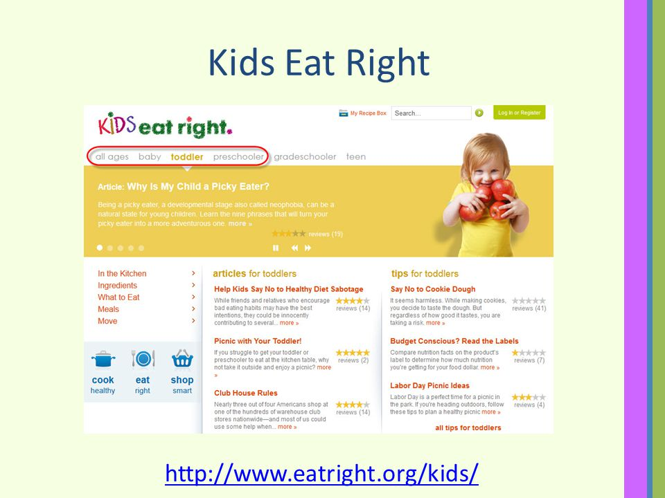 Kids Eat Right http://www.eatright.org/kids/