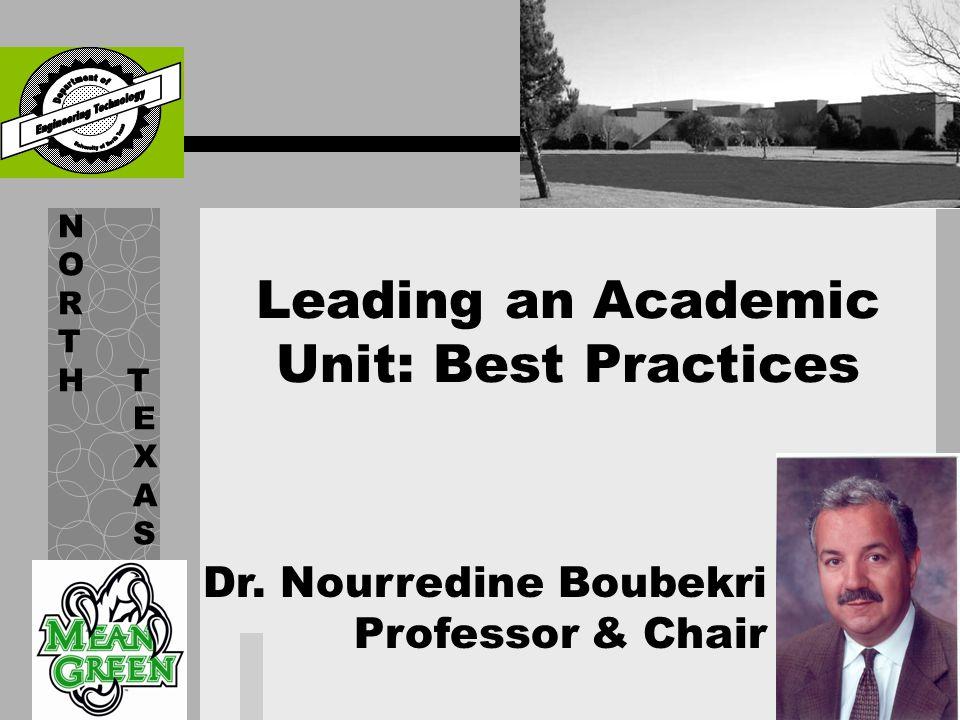 Nourredine Boubekri Professor and Chair Ph.D.