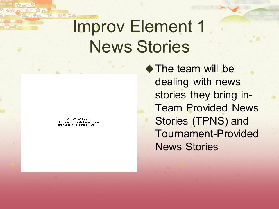 Team-Provided News Stories TPNS must involve a major event receiving national or global coverage.