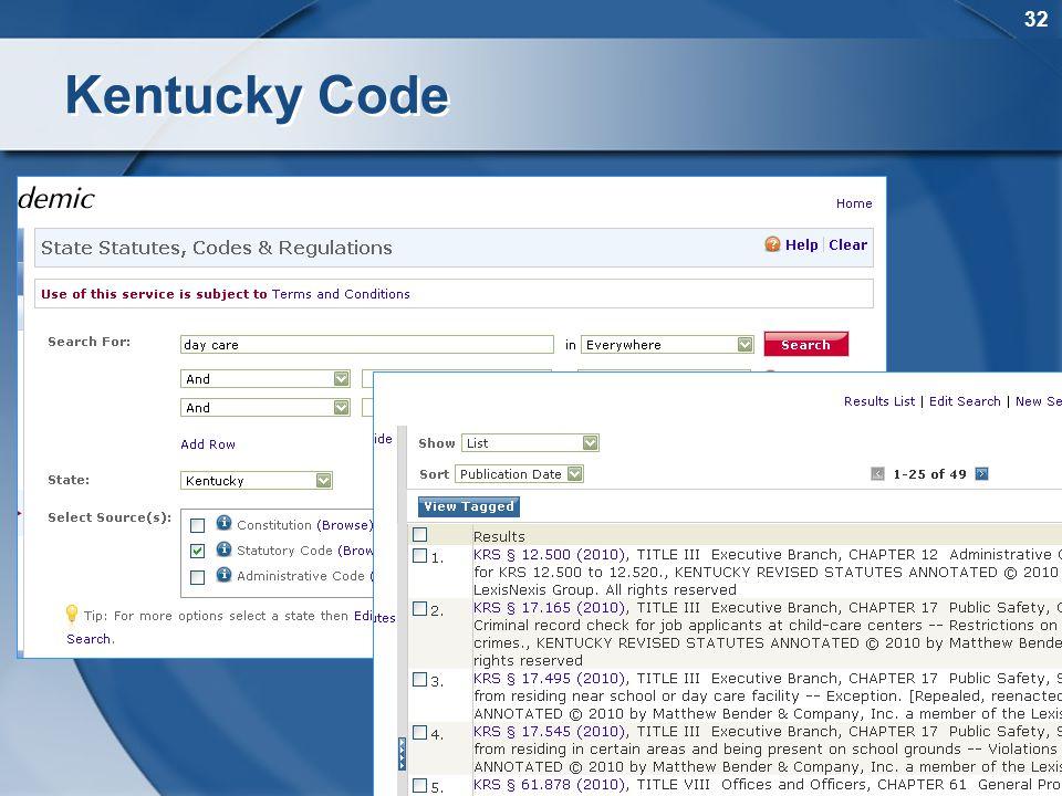 32 Kentucky Code
