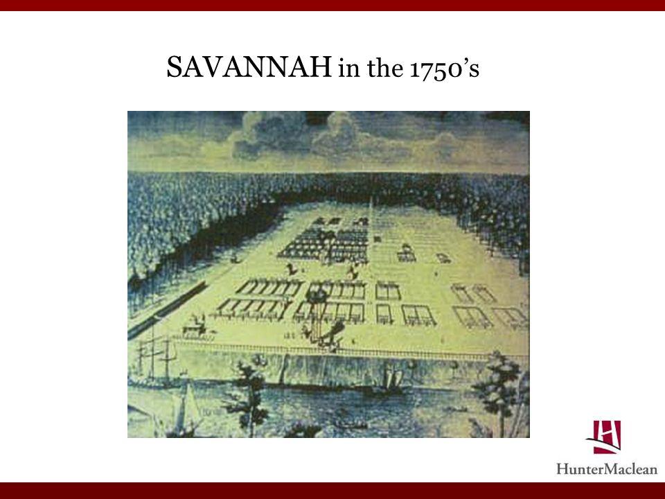 SAVANNAH in the 1750s