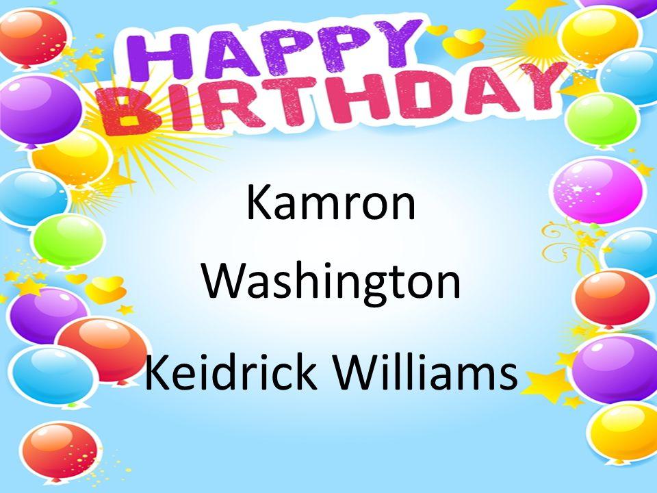 Kamron Washington Keidrick Williams