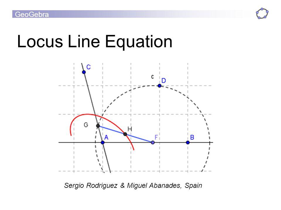 GeoGebra Locus Line Equation Sergio Rodriguez & Miguel Abanades, Spain