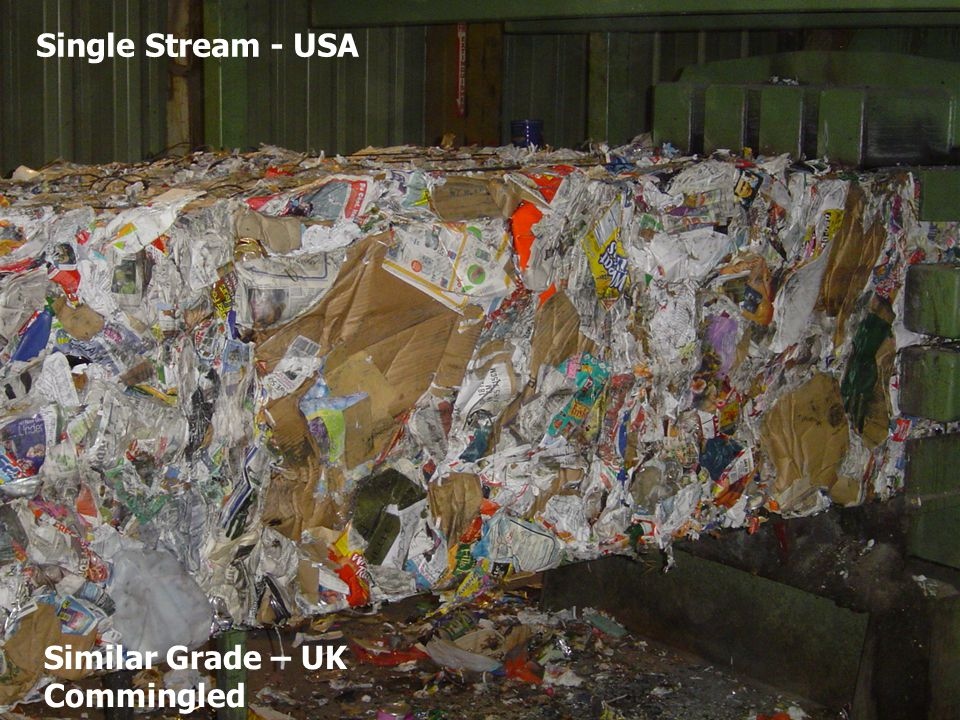 Single Stream - USA Similar UK & Europe Grade Commingled Single Stream - USA Similar Grade – UK Commingled