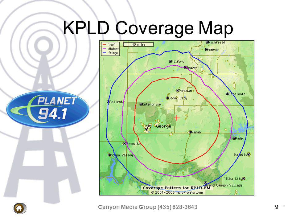 Canyon Media Group (435) 628-36439 KPLD Coverage Map