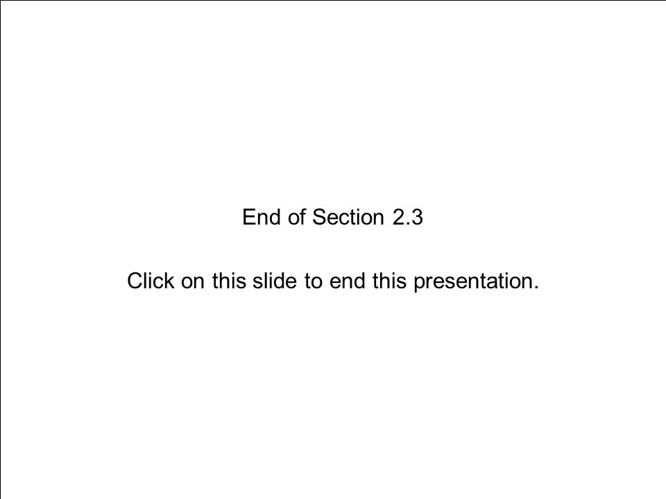 Section 2.3 Expressing Your Emotions Slide 22 of 21 End of Section 2.3 Click on this slide to end this presentation.