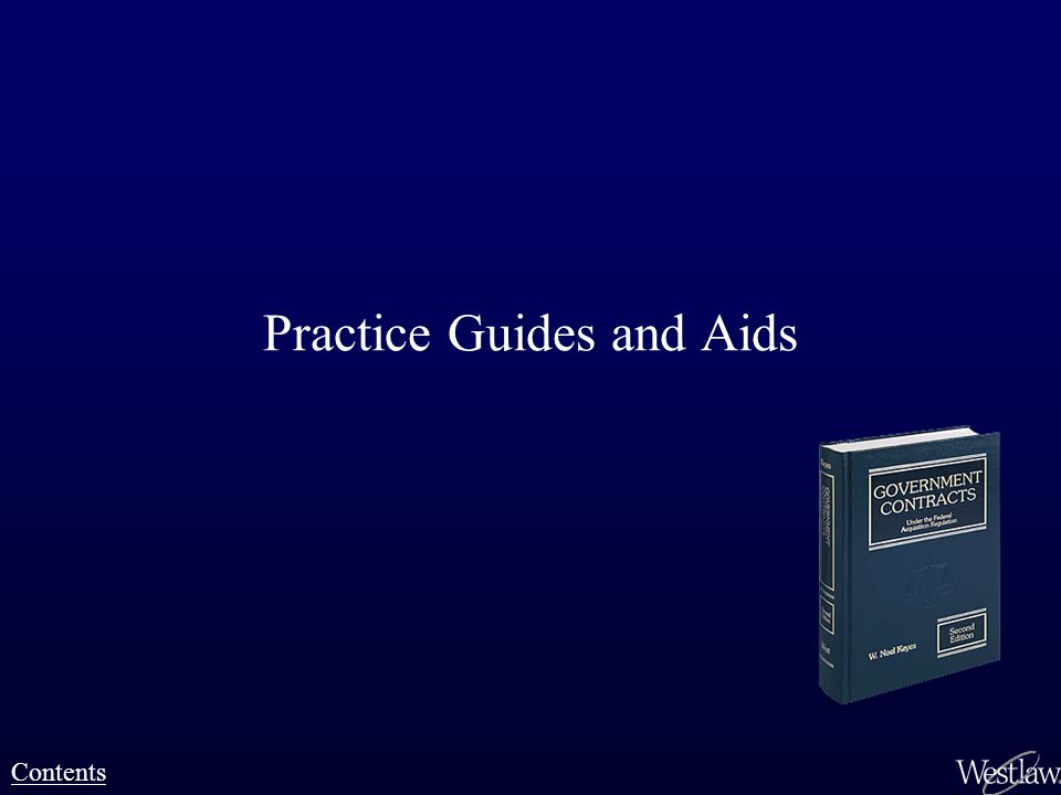 Practice Guides and Aids Contents