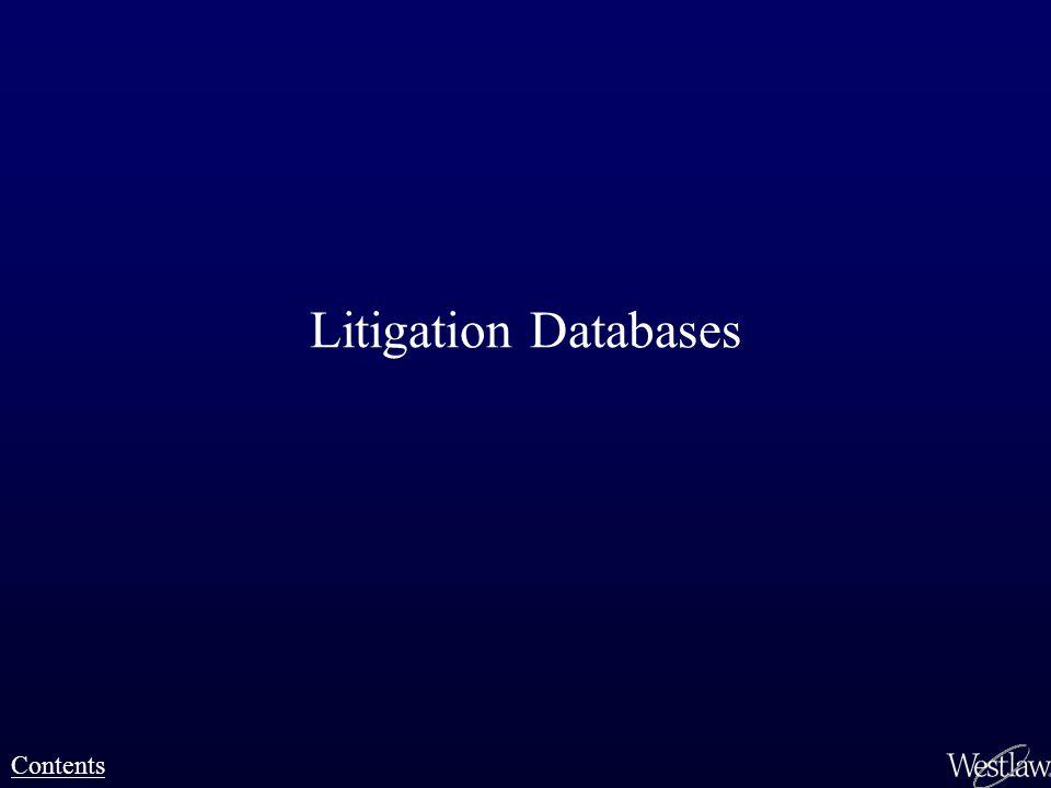 Litigation Databases Contents