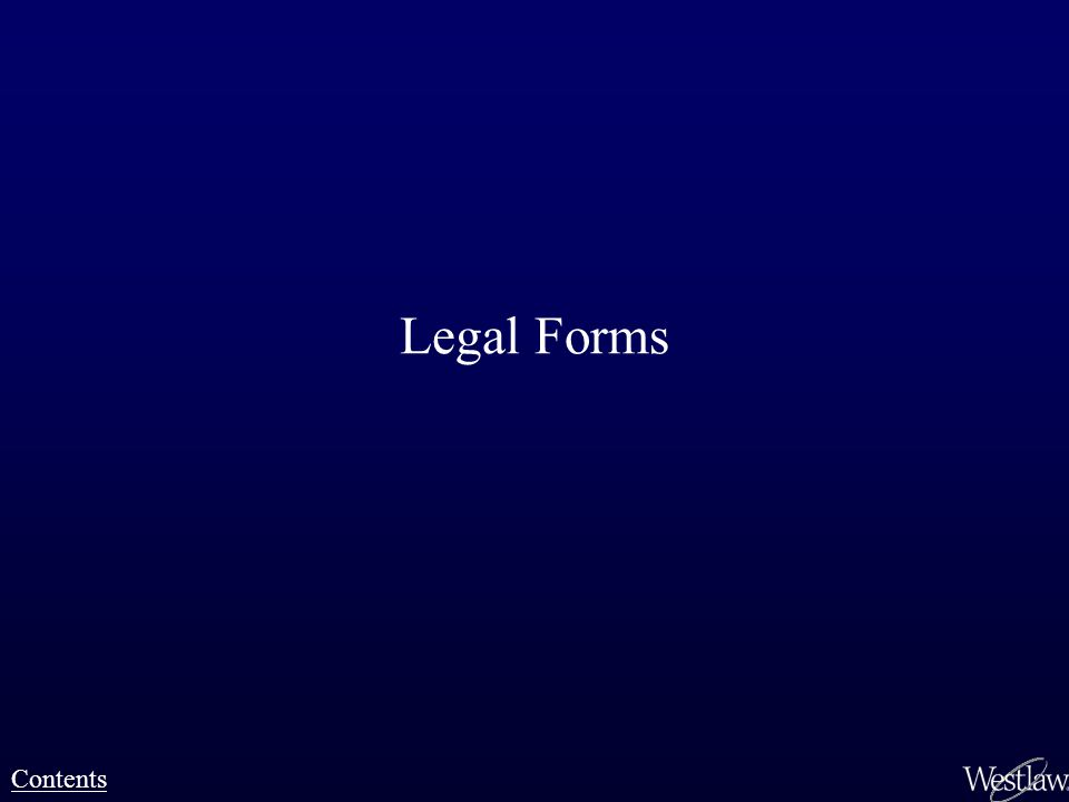Legal Forms Contents