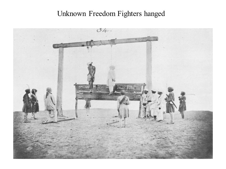 Unknown Freedom Fighters hanged