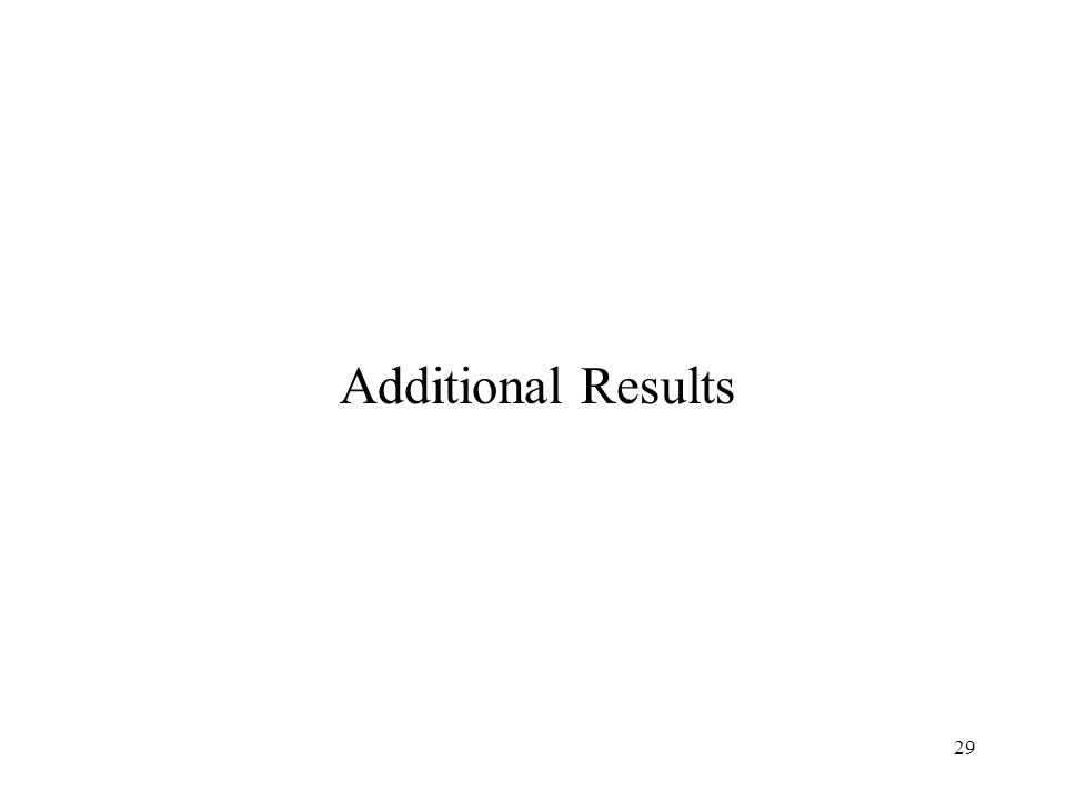 29 Additional Results