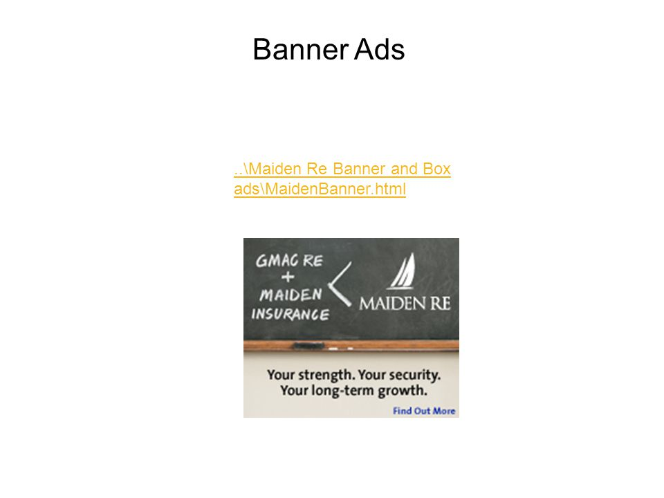 ..\Maiden Re Banner and Box ads\MaidenBanner.html Banner Ads