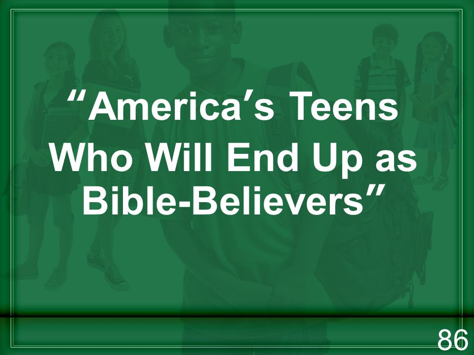 Americas Teens Who Will End Up as Bible-Believers 86