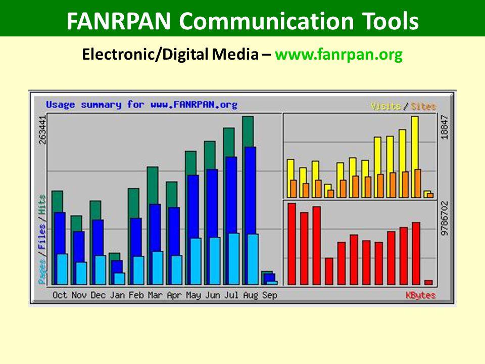 FANRPAN Communication Tools Electronic/Digital Media – www.fanrpan.org