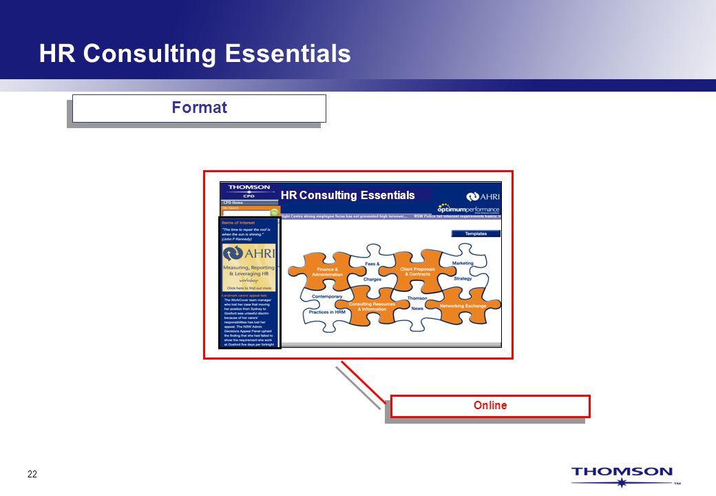 22 HR Consulting Essentials Online Format HR Consulting Essentials