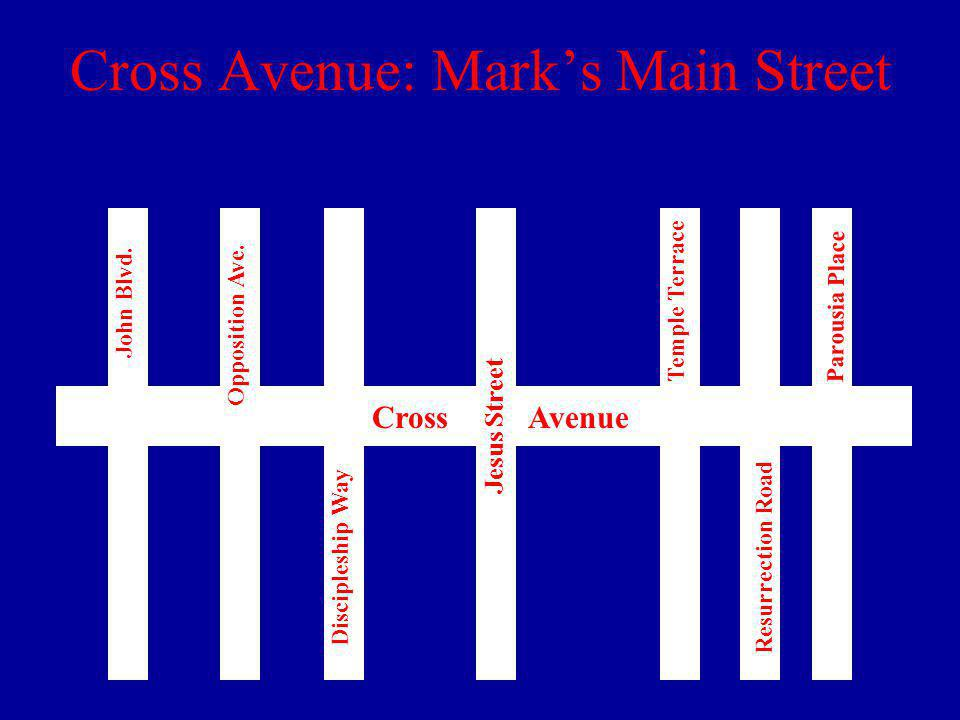 Cross Avenue: Marks Main Street Cross Avenue John Blvd.