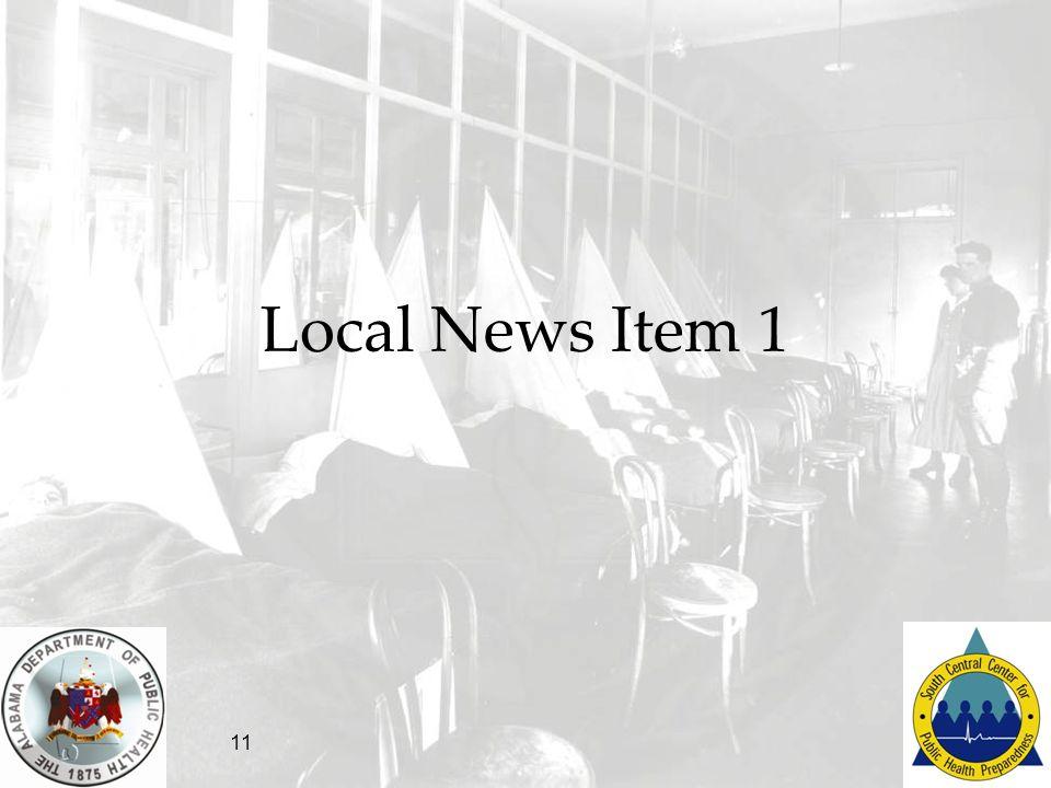 11 Local News Item 1