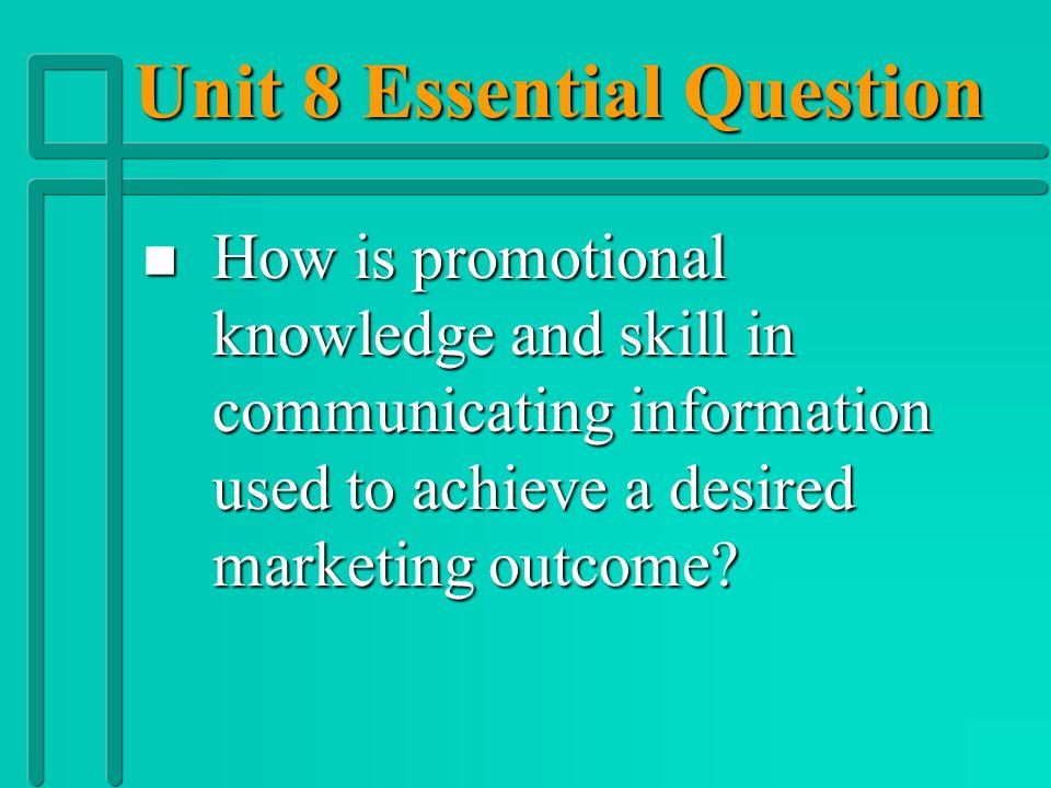 Unit 8 Vocabulary n n Promotional Mix n n Promotional Tie-ins n n Publicity n n Public Relations n n Pull Policy n n Push Policy n n Sales Promotion n