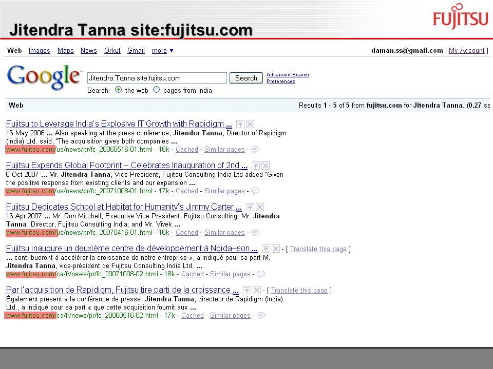 Jitendra Tanna site:fujitsu.com