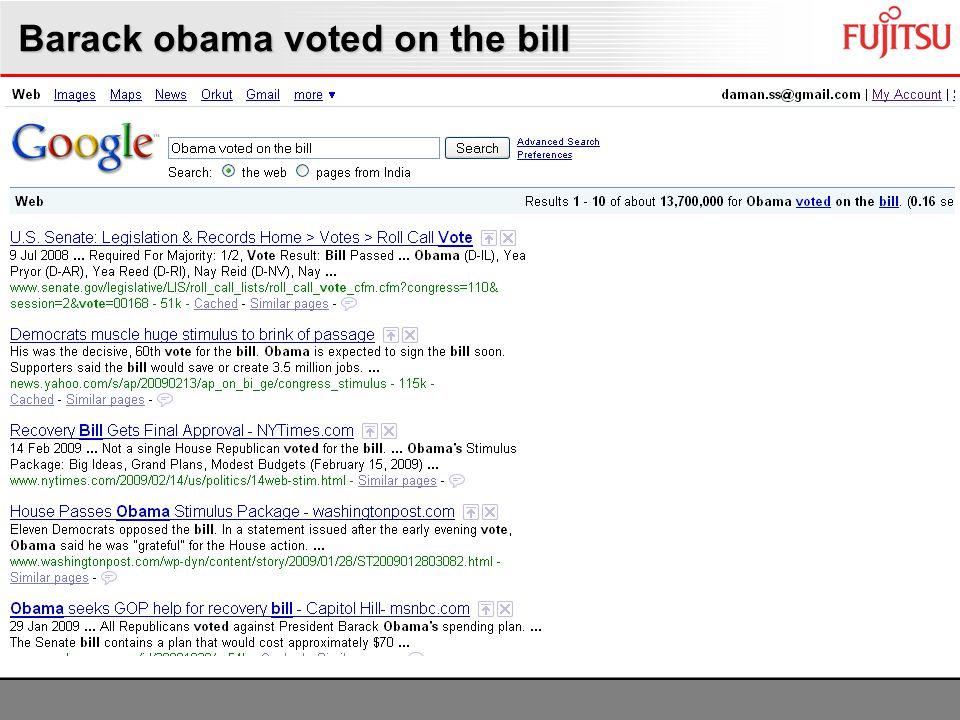 Barack obama voted on the bill