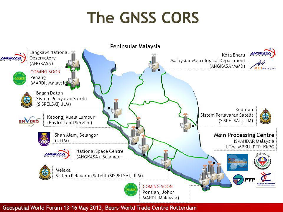 Peninsular Malaysia Langkawi National Observatory (ANGKASA) Kota Bharu Malaysian Metrological Department (ANGKASA/MMD) Kuantan Sistem Perlayaran Satel