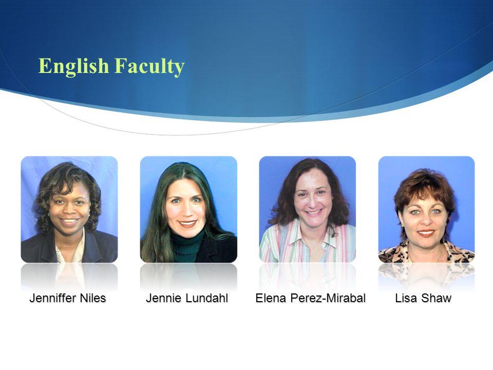 English Faculty Preston Allen Edward Glenn Robert Hach Tiina Lombard