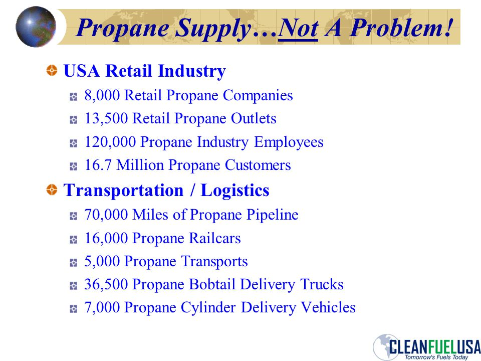 Propane Supply…Not A Problem.
