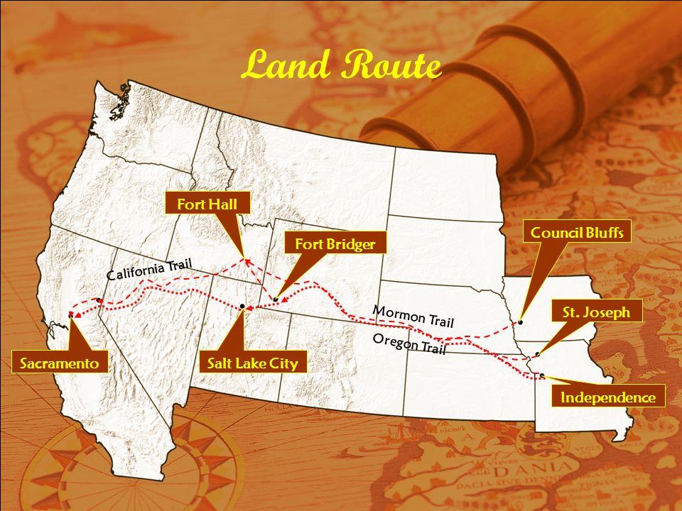Land Route Council Bluffs St.